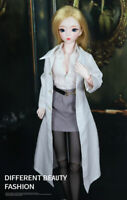 Fashion Rocking Girl Suit Outfit Clothes for 1//3 SD BJD Doll 7 Pcs Full Set AOD