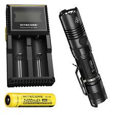 Bundle: Nitecore P12GT Flashlight CREE XP-L HI V3 LED -1000Lm w/ NL189 & D2