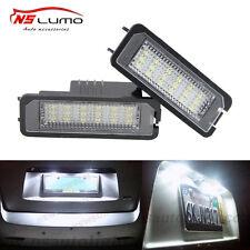 2pcs VW EOS LED License Plate Light Passat Scirocco Led Number Plate light bulb