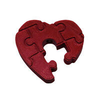 """Damir Brand - Forty5 """"Puzzle Heart"""" Adapter Red"""