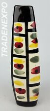 Vintage1950's STREHLA VEB Triangular Vase East German Pottery Fat Lava Era GDR
