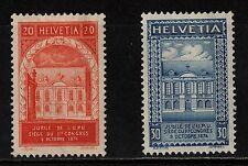 1924 SWITZERLAND UPU STAMP(LMM) S.G.336-337