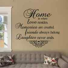 Home Is Where Love Resides Vinyl Wall Decal Sticker