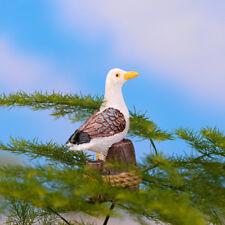Cute Seagull on Stump Garden Ornament Miniature Figurine Craft Plant Pots Decor
