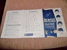 THE BEATLES ORIGINAL OFFICIAL SELCOL TOY GUITAR 6 PAGED INSTRUCTIONS BOOKLET !