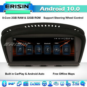"8.8"" CarPlay Android 10 Autoradio BMW 3er 5er E60 E61 E63 E64 E90 E91 4G 8-Core"