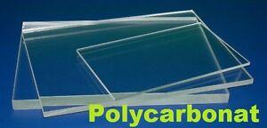 PC Polycarbonat Platte Zuschnitt Scheibe aus z.B Makrolon ANGEBOT NACH MAß