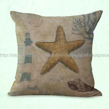 US SELLER- cheap throw pillow setso cean marine nautical star fish cushion cover