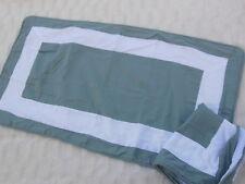 King Pillow Shams Blue White Frame Design Pair of 2