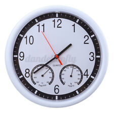 10'' Silent Modern Wall Clock Thermometer * Humidity Living Home Kitchen Office