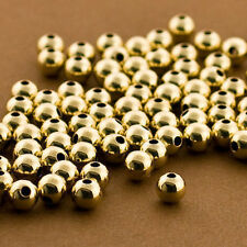 25 PCS Gold filled Beads, 6mm Round Beads, Seamless Gold fill Beads, 14k 14/20