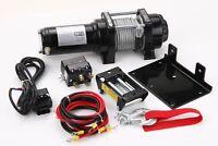 4000 Lb Winch Electric 12V ATV UTV Plow Trailer
