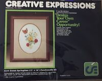 """Creative Expressions 3325 Sweet Springtime Punch Needle Kit 12"""" X 16"""" Flowers"""