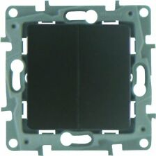Legrand Interrupteur Double 10a Niloé Gris avec Enjoliveur finition fonte
