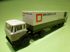 LION CAR DAF 1900 TRUCK - VAN GEND & LOOS -  GREY + WHITE 1:50 - GOOD CONDITION