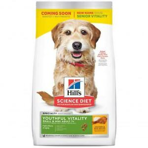 Hill's Science Diet Youthful Vitality Small & Mini Senior Chicken Dry Dog Foo...