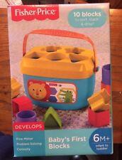 Fisher Price Baby's First Blocks ~ New ~ 6M +
