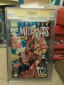 New Mutants #98 CGC 8.5 Signed: Stan Lee/Rob Liefeld First App. Deadpool