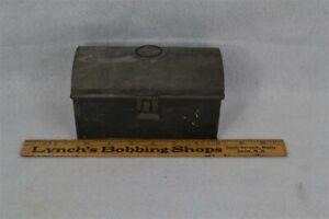old period dome top document box tin toleware 6.5 in. 18th 19th c original