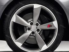 6 x Audi S-line Aufkleber für Räder A3 A4 A5 A6 A7 S4 RS TT Q7 Emblem Logo S