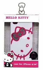 SAKAR White HELLO KITTY Phone CASE Durable+Sturdy Hardshell For iPHONE 4/4S