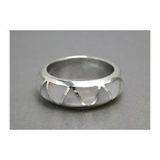 Beautiful Plain Shell ring White - Sterling Silver.925