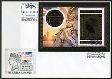 Sierra Leone 2020 180th Anniversary Of The Penny Black Souvenir Sheet Fdc