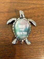 """Sea Turtle Message Figurine """"Relax and Unwind"""" Ganz Encouragement"""