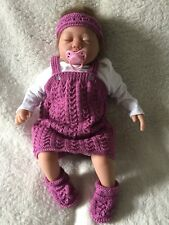Hand knitted baby Pinafore Dress