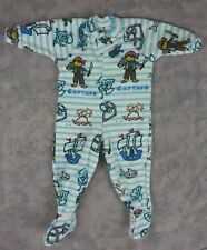 Toddler One Piece Fleece Romper Bodysuit / Pirates Treasure Sharks / 3T-4T