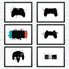 Game Console - Minimal Splatter Wall Art Poster Print A4/A3