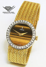 Corum Tiger's Eye 18k Yellow Gold & Diamond Ladies Manual Wind Watch
