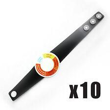 10 X Indicador de Sol UV Medidor Pulseras Solar Sensor De Protección Seguridad De Vacaciones