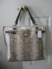 Coach Handbag 16403 Holly Python Embossed Shoulder / Tote Limited Edition