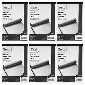 """Mead Ruled Writing Tablet, 100-Sheets, 6"""" x 9"""" (Pack of 6)"""