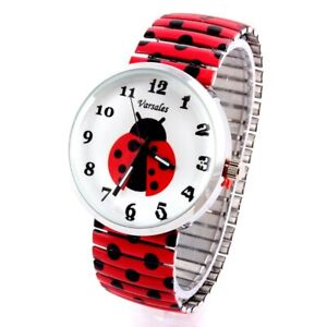 Lady Bug Stretch Watch