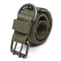 Nylon Tactical Dog Collar Military Adjustable Training Dog Collar with Metal D