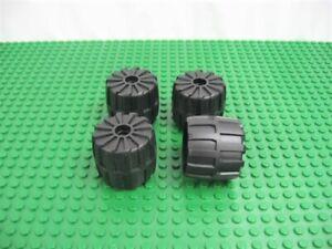 4x LEGO Black Wheel Hard Plastic MEDIUM 35mm D.x31mm 6896 6957 6862 #2593