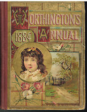 Worthington's Annual 1884 Series o Interesting Stories Colored Plates Beautiful!