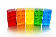 5 Small Toy Brick Soaps / Party Favor in Rainbow Colors