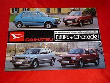 DAIHATSU Cuore + Charade Prospekt von 1981