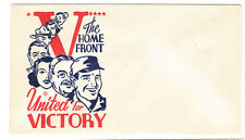 V  UNITED FOR VICTORY THE HOME FRONT PATRIOTIC COVER VF