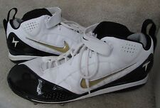 Mens's Nike Air LT-D #319007-101 Football Cleats, White/Black Size 13