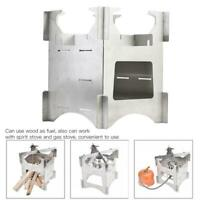 Outdoor Stainless Steel Wood Stove Survival Hiking Wood Burning Camping Stove