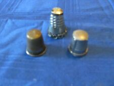 Lot of 3 Vintage Sewing Thimbles - 1 Alpaca Made in Mexico - 2 Unbranded
