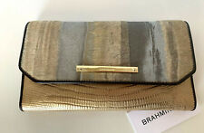 NEW! Authentic! BRAHMIN Soft Checkbook/Wallet-Gold
