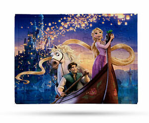 80 Pieces A5 Jigsaw Puzzle - Lockdown Kids Game - Disney Tangled Rapunzel