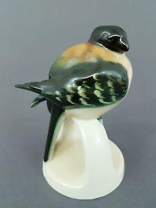 (G0385) Hutschenreuther Vogel Figur, Dompfaff, Höhe 11 cm