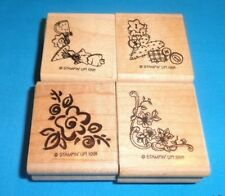 STAMPIN' UP! Set of 4 MINI Corners rubber stamps 1991 RETIRED