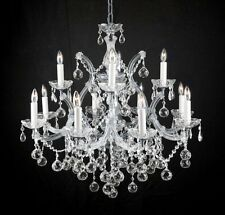 NEW! LIGHTING CHANDELIER CHANDELIERS W/ CRYSTAL BALLS! 28 X 30